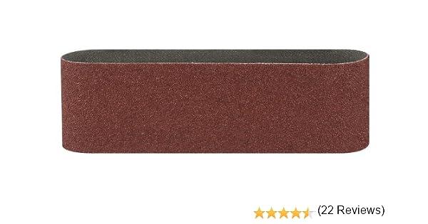 Bosch 2609256216 Set de 3 bandes abrasives pour Ponceuse /à bande 75 x 533 mm Grain 40