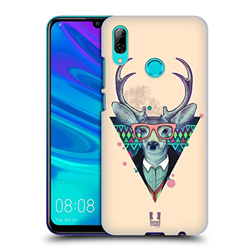 Head Case Designs Trendy Hirsch Fauna Hipsters Harte Rueckseiten Huelle kompatibel mit Huawei P Smart (2019)