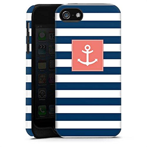 Apple iPhone 6s Hülle Case Handyhülle Anker Streifen Maritim Tough Case matt