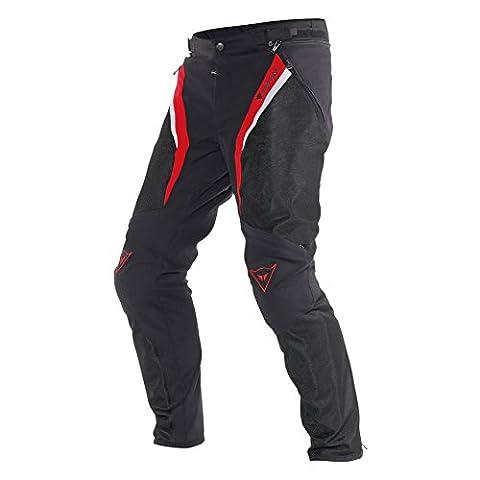 Dainese Drake Super Air Tex Motorradhose, Schwarz/Rot/Weiß, Größe 50