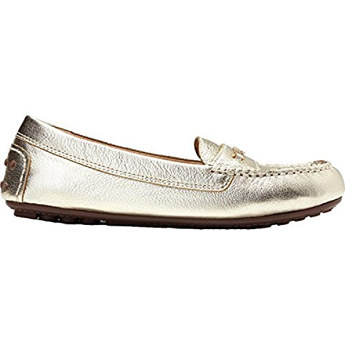 Vionic Womens Honor Ashby Leather Shoes Champagne