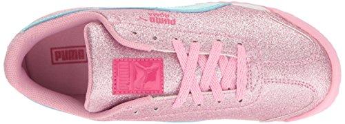 Puma Roma Glitz Glamm JR Synthetik Turnschuhe Prism Pink-Aruba Blue