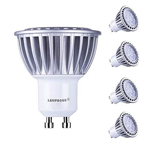 Lampaous gu10 led 7w warmweiss Leuchtmittel Led Lampe Spot Birnen ersetzt 70 Watt Halogenlampe 600lm 230V AC 4er Pack [Energieklasse A+]