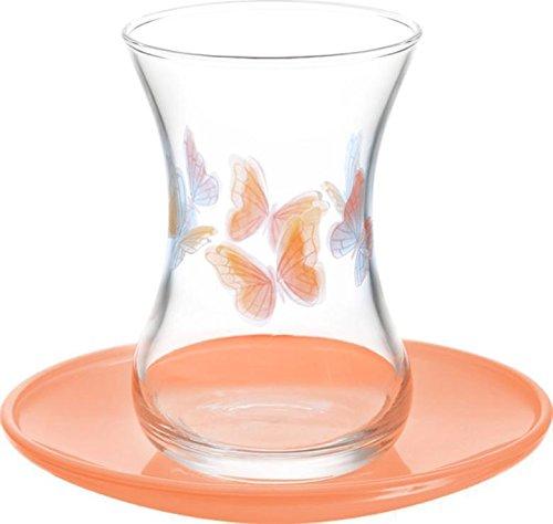 Kelebek 12tlg. Lav Gläser Teeglas Teegläserset Cay Bardagi Seti Türkisch Türk Tee Arabisch Orient (Tee-set Arabische)