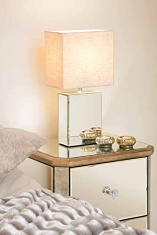 MY-Furniture - Mirrored furniture Glass Mirror White Black Table Bedside
