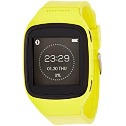 "MyKronoz ZeSplash 1.54"" LCD Amarillo reloj inteligente - Relojes inteligentes (3,91 cm (1.54""), LCD, Pantalla táctil, 50 g, Amarillo)"