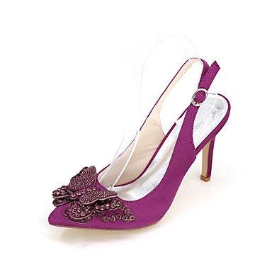 Moda Donna Sandali Sexy donna tacchi Primavera / Estate / Autunno tacchi / Punta nozze di seta / Party & Sera Purple