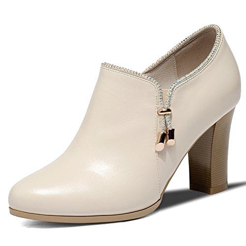 Tomber épais avec des chaussures sombres/ TOU Shui diamond high heels/ confortables chaussures nue B
