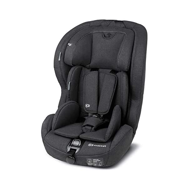 Kinderkraft Safety Fix Baby Car Seat ISOFIX, for Children Weighing 9-36kg - Black kk KinderKraft Car Seat - The Safety-Fix car seat grows together with your child. Secure - Equipped with fixing system ISOFIX + TOP TETHER, which guarantees a stable and safe position for your child. Comfort - Hight adjustable 5-point internal harness and 10-step adjustment headrest means the seat will serve your child for years. 9