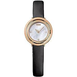 Hugo Boss Ladies Black Leather Strap Watch 1502276