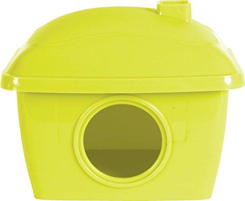 Maison hamster en plastique Vert Anis avec toit amovible