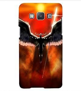 ColourCraft Dark Angel Design Back Case Cover for SAMSUNG GALAXY E5