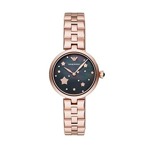 Emporio Armani Damen Analog Quarz Uhr mit Edelstahl Armband AR11197