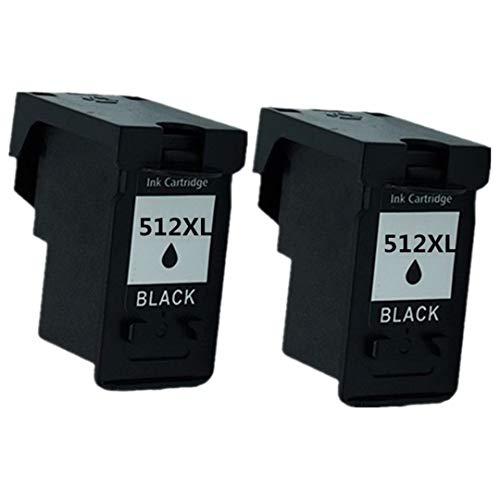No-Name Wiederaufbereitete Druckerpatronen PG-512 PG 512 XL PG512 CL-513 CL513 CL 513 CL-513 CL-513 für Canon Pixma MX330 MX340 MX350 MX360 MX410 MX420 MP260 MP270 MX320 Tintenstrahldrucker 2 Schwarz