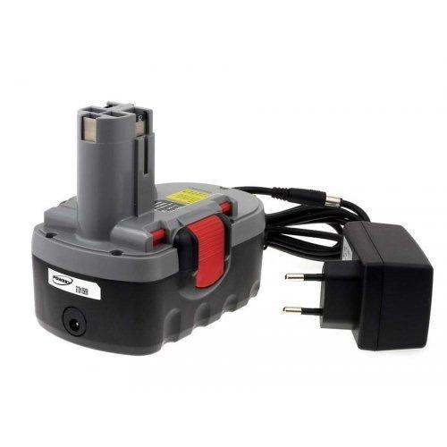 POWERY® Batteria per Bosch Trapano avvitatore PSR 18VE-2 O-Pack Li-Ion Caricabatteria inclusa