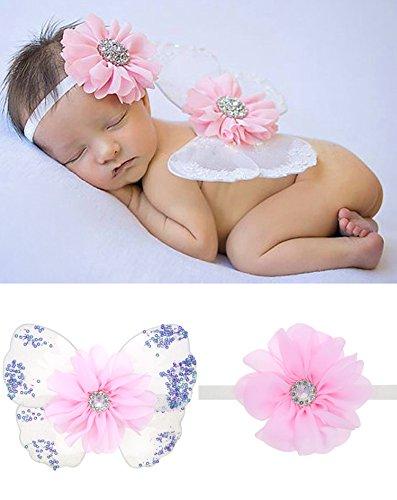UGUAX Baby Mädchen Neugeborene Fotografie Prop Schmetterling Flügel Kostüm Foto Outfits (Neugeborenen Schmetterlings Kostüm)
