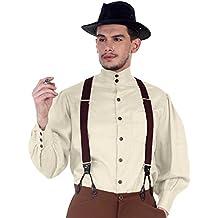 ThePirateDressing Steampunk Victorian gótico Punk Vampire Seigneur Gentlemen camiseta disfraz c1292[color blanco]