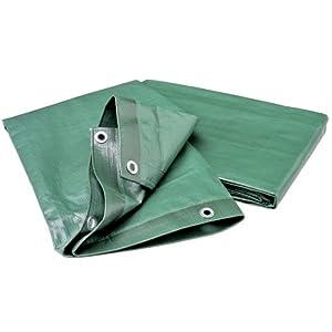 Wolfcraft 5124000 – Cubierta de lona para leña, impermeable, resistente a la rotura y a los rayos UV 6 x 1,5 m