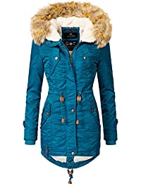 95d96adf3189 Navahoo Damen Winter Mantel Winterparka La Viva (Vegan Hergestellt) 11  Farben XS-XXL