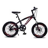 Vélo for Enfants Vélos 18 Pouces Vélos D'écolier De 8-10-12 Ans VTT for Garçons Et Filles (Color : Red, Size : 18 inches)
