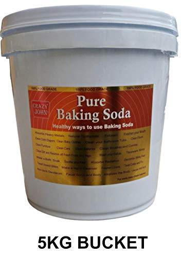 Crazy John ® Baking Soda, Sodium Bicarbonate 5 Kg Pack Plastic Container
