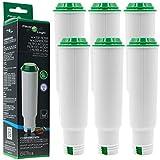 6x FilterLogic CFL-701B ersetzen Krups F088 Claris Aqua Filter / Melitta Pro Aqua Wasserfilter / Nivona Filterpatrone - Kaffeevollautomat Kartusche