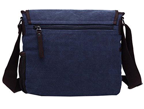Super moderno tela computer portatile borsa messenger bag a tracolla borsa bauletto Bookbag School bag, borsa per uomini e donne blu Blue Blue