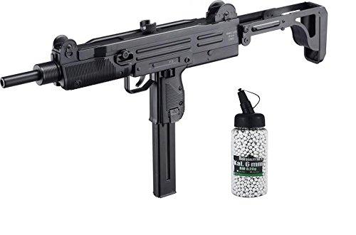 SET: Softair IWI UZI SMG AEG max. 0,5 Joule 6mm + G8DS® Softair Munition BIO BBs Premium Selection 2000 Stück 0,20 g 6mm