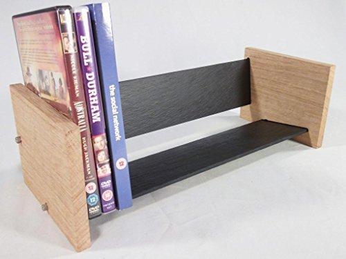 Solide Eiche und Naturschiefer DVD Regal - Modern, modernes Design