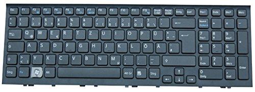NExpert deutsche QWERTZ Tastatur für Sony Vaio VPCEL3S1E VPCEL2S1E VPC-EL1E1E DE schwarz Neu mit Rahmen