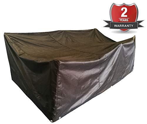 Kunststoff Patio Set (ANSIO Patio Set Cover Gartenmöbelbezug im Freien, Polyester Oxford Material, Wasserdicht, Staubdicht, 2,1 m Länge X 1,1 m Breite X 0,7 m Höhe)
