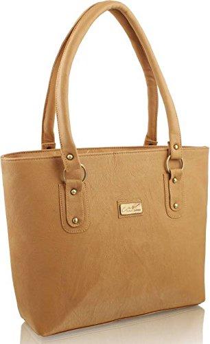 Stalkers Fancy Stylish Elegance Fashion Tan Colour Faux Leather Handbag Bag for women