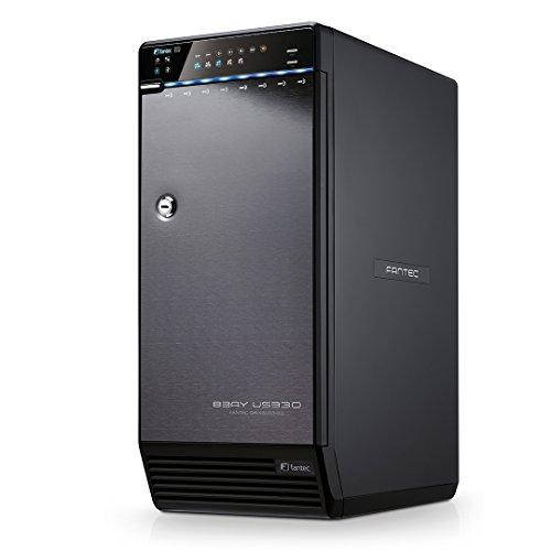 festplatten array FANTEC QB-X8US3R Externes 8-fach RAID Festplattengehäuse (für den Einbau von 8x 8,89 cm (3,5 Zoll) SATA I/II/III Festplatten, USB 3.0 SUPERSPEED und eSATA Anschluss, RAID Funktion (0/5/10/50/BIG Modus), 2x 80 mm Lüfter temperaturgeregelt) schwarz