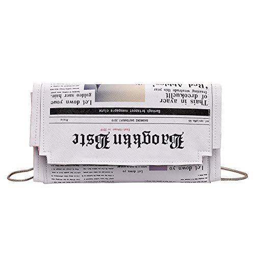 JUNERAIN Mujeres Crossbody Messenger Bag Periódico