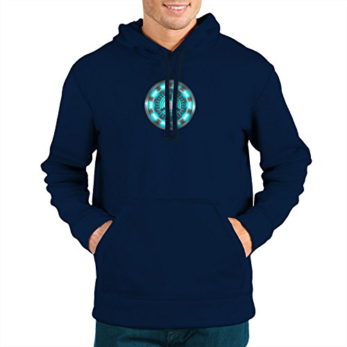 (Planet Nerd Arc Reactor - Herren Hooded Sweater, Größe: M, dunkelblau)