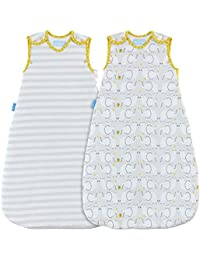 The Gro Company Elephant Love Grobag Baby Sleeping Bag Wash and Wear Twin Pack, 6-18 Months, 2.5 Tog