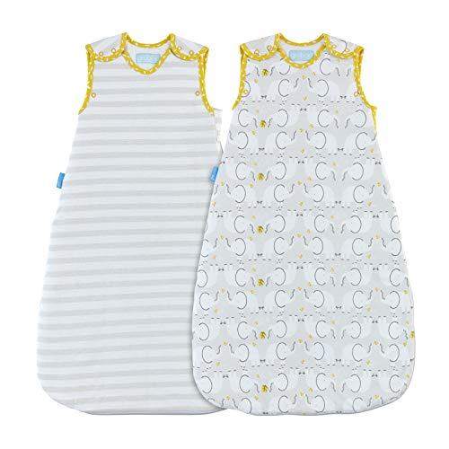 Grobag - Saco de dormir, diseño de elefante blanco Talla:18-36 Months