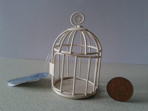 Preisvergleich Produktbild Klein Mini Vogelkäfig Tür in Elfenbein, ideal für Partys