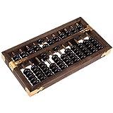 FLAMEER Vintage Chinesische Holz Bead Abakus Arithmetik Soroban 11 Ziffern Berechnen Werkzeug