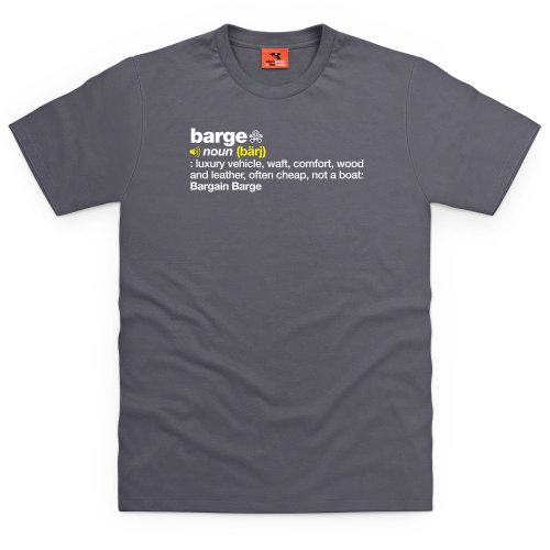 PistonHeads Barge T-Shirt, Herren Anthrazit
