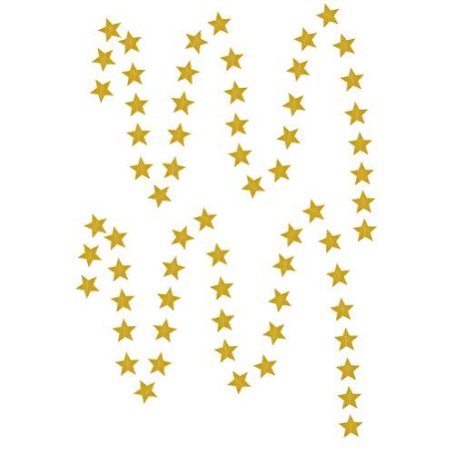 TOYANDONA 2 stücke Girlande Bunting Banner hängen Papier Pentagramm Dekoration Photo Booth Requisiten für Festivals Geburtstag zu Hause hochzeitsfeiern dekor