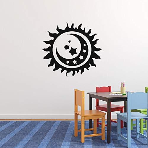 Applique Kunst (ziweipp Kreative Sonnenschein mond wandaufkleber kinderzimmer Kunst Applique Wohnzimmer Schlafzimmer Dekoration Vinyl DIY tapete 50 * 56 cm)