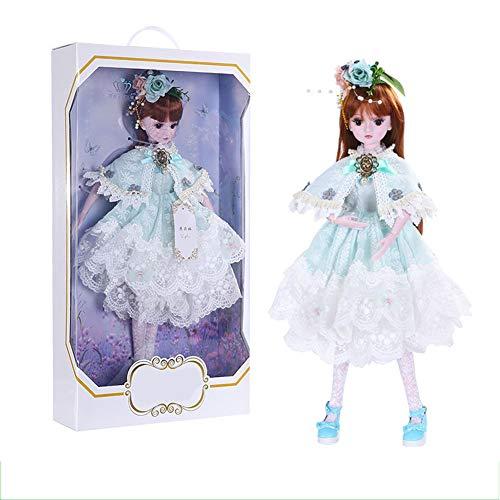Puppe 60 cm Dress Up Hochzeitskleid Prinzessin Puppe Anzug Geschenkbox Mädchen Spielzeug Joint Puppe Child Playmate Puppe ()