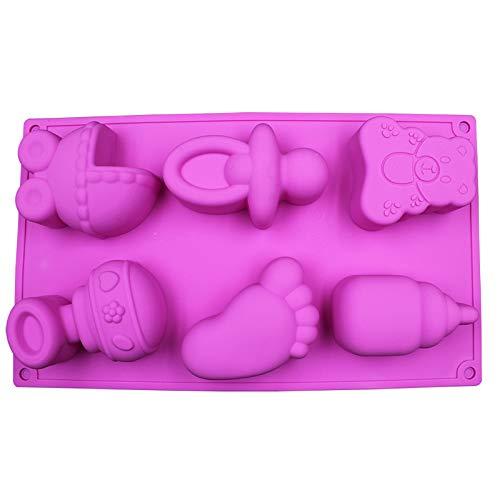 Candy Bakeware Backzubehör Silikon Kuchen Form für DIY Gelee Pudding Schokolade Kuchen Dekorieren Werkzeug Baby Auto Fuß Bär Flasche Form (Flasche Candy Baby Pops)