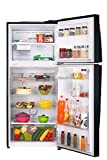 LG 437 L 4 Star Inverter Frost-Free Double-Door Refrigerator (GL-T432FBLN, Black Steel)