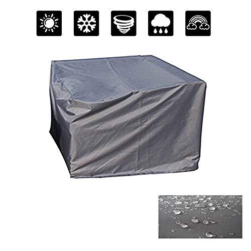 FQJYNLY Gartenmöbel Abdeckung Regenschutz Staubdicht 420D Oxford Tuch Rechteckige Tischdecke Terrassenüberdachung Ausrüstung, 24 Größen (Color : Gray, Size : 315x160x70CM)