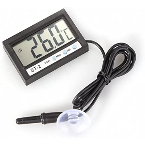 Termómetro LCD Digital Temperatura Sonda Sensor Reloj Coche