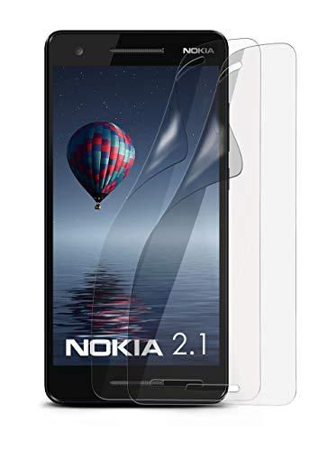 2X Nokia 2.1 | Schutzfolie Matt Display Schutz [Anti-Reflex] Screen Protector Fingerprint Handy-Folie Matte Displayschutz-Folie für Nokia 2.1 Displayfolie (Nokia X Screen Guard)
