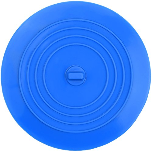 Waschbeckenstöpsel Badewannenstöpsel Ablaufstöpsel Abflussstopfen für Küche, Bad und Wäschereien 6 Zoll (Blau)