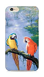 Amez designer printed 3d premium high quality back case cover for Apple iPhone 6s Plus (Parrot beautiful art painting)